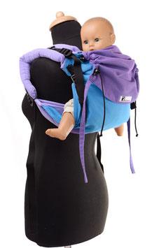 Huckepack Onbuhimo Medium-türkis/violet
