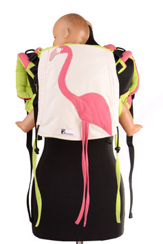 Huckepack Onbuhimo Medium-Flamingo  (Unikat)