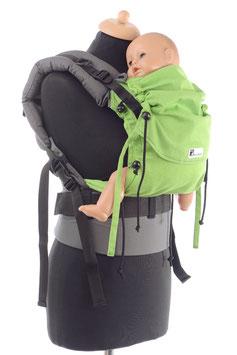 Huckepack Full Buckle Baby-apple green/ grey (standard design)