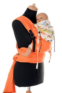 Huckepack Wrap Tai Medium-orange/little flyer