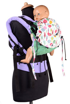 Huckepack Full Buckle Medium-grün/lila Bäume