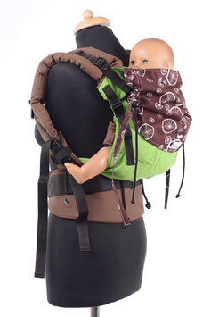 Huckepack Full Buckle Toddler-apple green/brown wheels