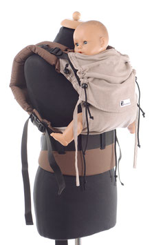 Huckepack Full Buckle Baby hellbraun/braun (Standarddesign)