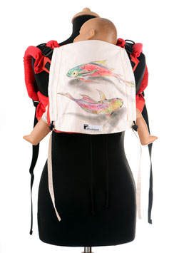 Huckepack Onbuhimo Medium-fish (handpainted)