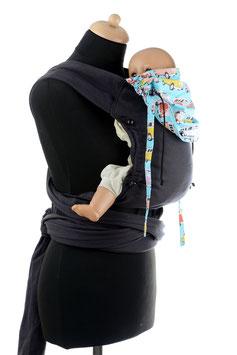 Huckepack Wrap Tai Baby-schwarz Busse
