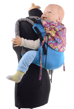 Huckepack Onbuhimo Toddler-turquoise/purple butterflies