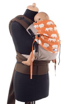Huckepack Half Buckle Toddler - hellbraun/orange Bären