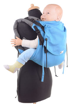 Huckepack Onbuhimo Preschooler- türkis/grau (Standarddesign)