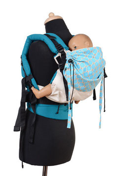 Huckepack Full Buckle Toddler-Colimacon nature/light blue dots
