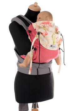 Huckepack Half Buckle Baby - pink Flamingos