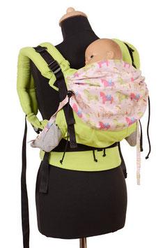 Huckepack Full Buckle Toddler-Colimacon green/horses