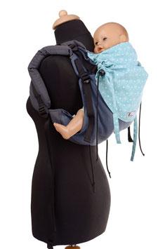 Huckepack Onbuhimo Medium - blau gemustert
