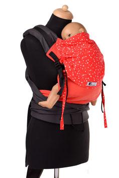 Huckepack Half Buckle Toddler - rote Sterne