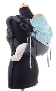 Huckepack Onbuhimo Medium - grau/blau gemustert