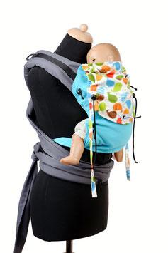 Huckepack Half Buckle Baby - türkis Vögel 1