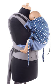 Huckepack Half Buckle Toddler - blaue Punkte