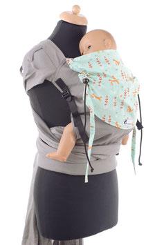 Huckepack Wrap Tai Toddler-grau Füchse