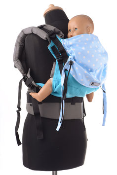 Huckepack Full Buckle Toddler-turquoise dots