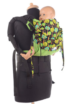 Huckepack Full Buckle Toddler-green/black trees
