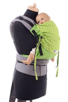 Huckepack Half Buckle Toddler-green stars
