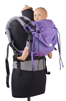Huckepack Full Buckle toddler-lila /grau  (Standarddesign)