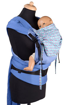 Huckepack Wrap Tai Toddler-blau Libellen