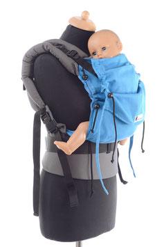 Huckepack Full Buckle Baby-turquoise/ grey (standard design)