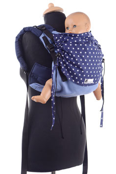 Huckepack Onbuhimo Medium-light blue/blue stars