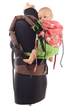 Huckepack Full Buckle Toddler-green/giraffes