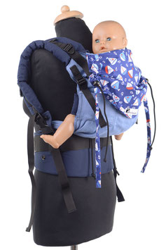 Huckepack Full Buckle medium-blue boats
