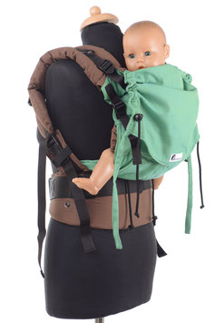 Huckepack Full Buckle toddler grün/braun  (Standarddesign)