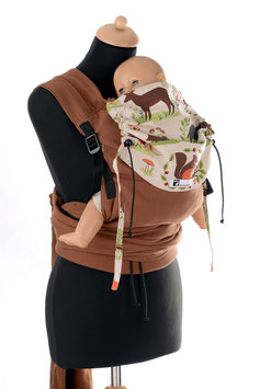 Huckepack Wrap Tai Medium-brown/forest animals