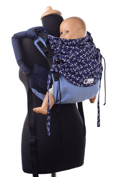 Huckepack Onbuhimo Medium-blau Anker