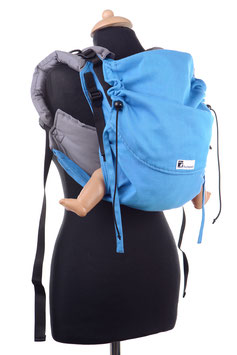 Huckepack Onbuhimo Medium-türkis/grau  (Standarddesign)