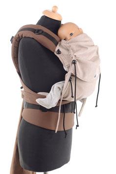 Huckepack Half Buckle Baby-hellbraun/braun (Standarddesign)