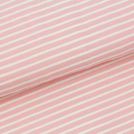 Biojersey Streifen - peach-rose (0,5 m)