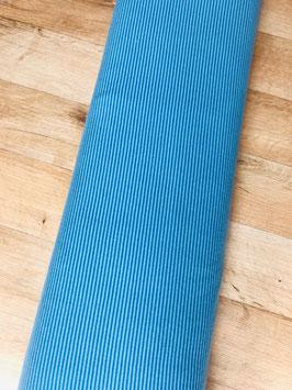 Jersey Streifen blau/mint (0,5 m)