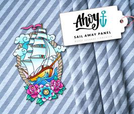 Ahoy - SAIL AWAY Panel  / GRAU  - Albstoffe & Hamburger Liebe