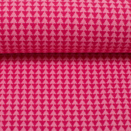 Jacquard-Jersey rosa/pink Dreiecke Swafing (0,5 m)