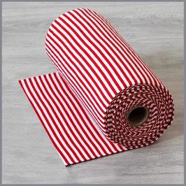 Bündchen Streifen rot/weiß 5 mm (0,5m)