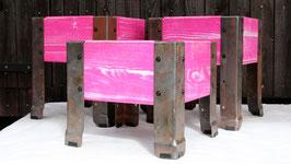 Pink SBB Pflanztöpfli 3x