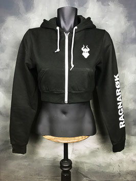 RAGNARØK HOODY ZIPPER LADY CROPPED