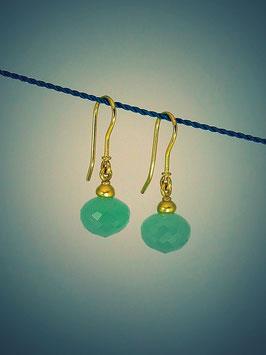 Ohrhänger-Paar Jadeit
