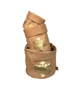 Paper Bag | braun Schneeflocke