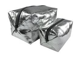 Kosmetiktasche - Silber
