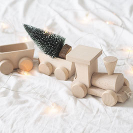 Holz Zug mit Wagons