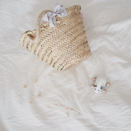 Haarschleife small hellgrau