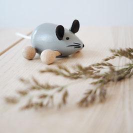 Maus auf Rollen grau