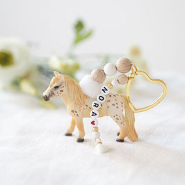 Schlüsselanhänger mit Wunschnamen Pony