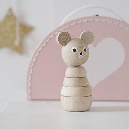 Holz Steckfigur Bär